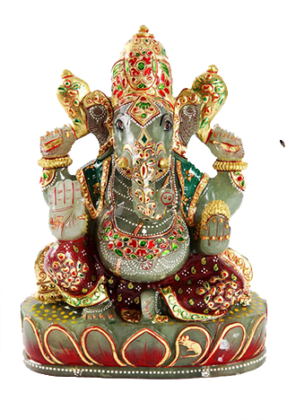 Devotees, who worship Jade Ganesha daily twenty seven times with fresh  garika or fresh green grass, will receive the grace of Lord Ganesha and  will attain PlusPng.com  - PNG Lord Ganesh
