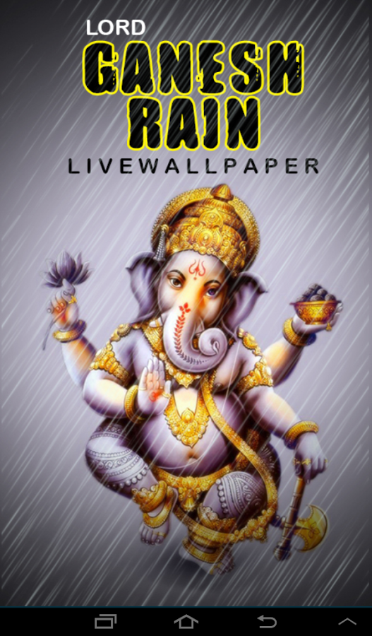 Lord Ganesh Lightening Live WP- screenshot - PNG Lord Ganesh