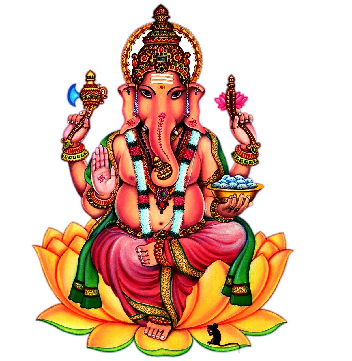 Lord Ganesh Jumbo Stickers Wh