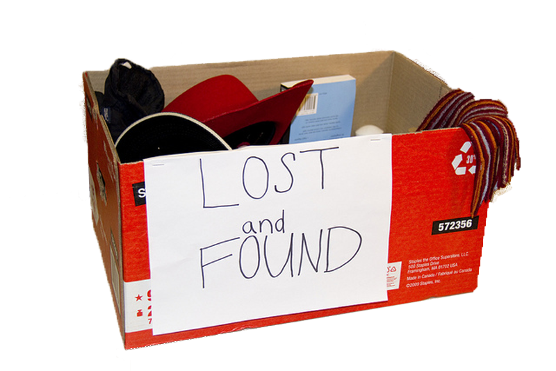 Image Gallery: lost and found box