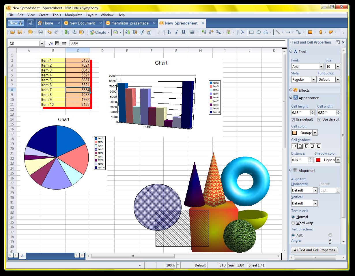 IBM Lotus Symphony - Spreadsheet Editor - PNG Lotus Symphony