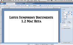 IBM Lotus Symphony is an Offi