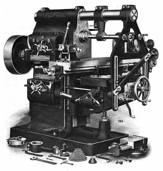 File:Horizontal milling machine--Cincinnati--early 1900s--001. - PNG Machine