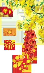 Chúc Mừng Năm Mới - PNG Mai