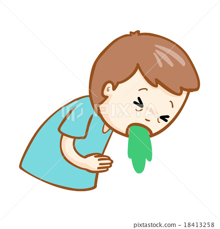 ill man vomiting cartoon vector - PNG Man Vomiting