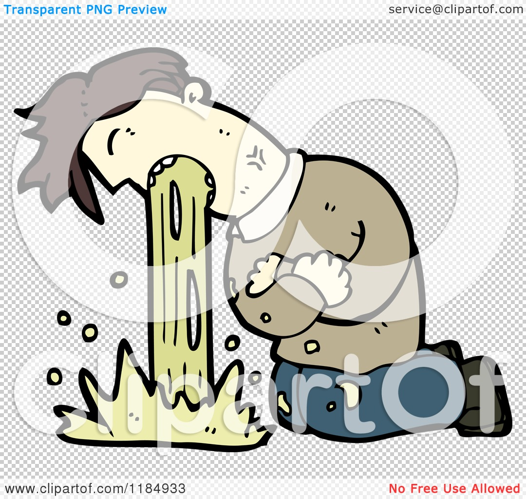 PNG file has a PlusPng.com  - PNG Man Vomiting