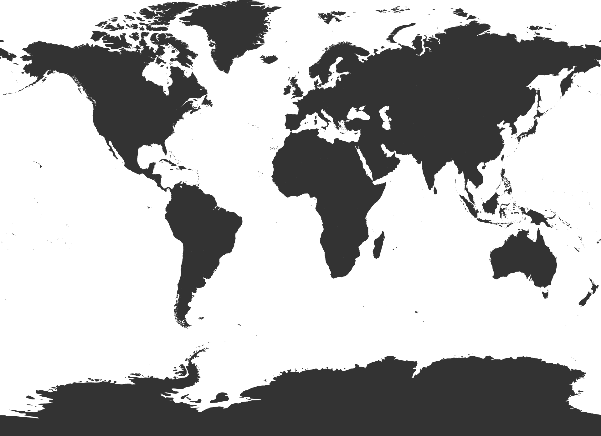 PNG Map Black And White - 79480