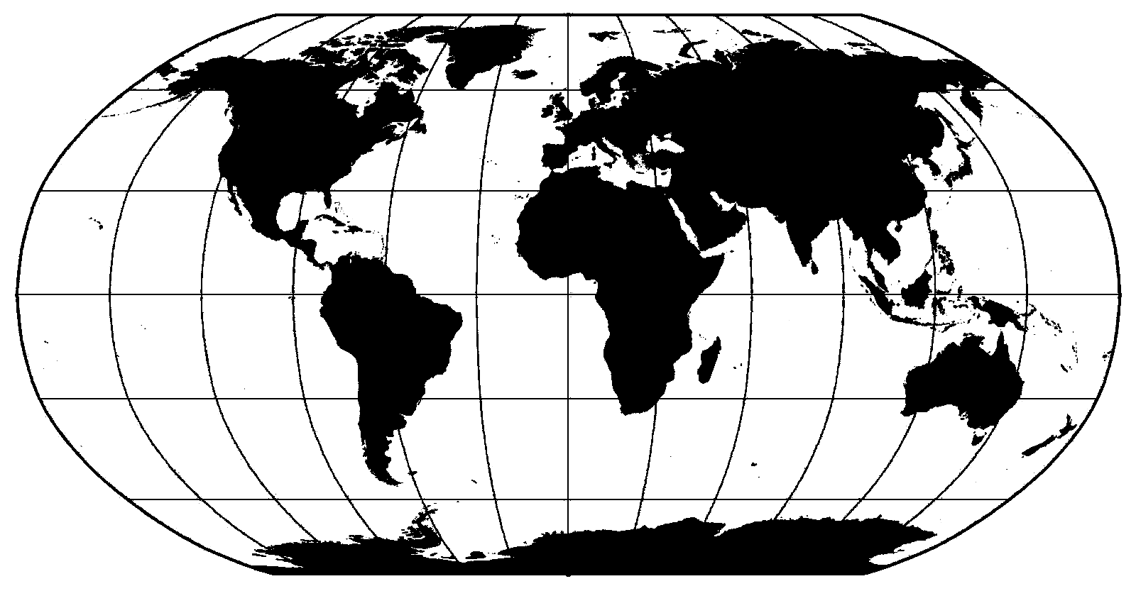 PNG Map Black And White - 79484