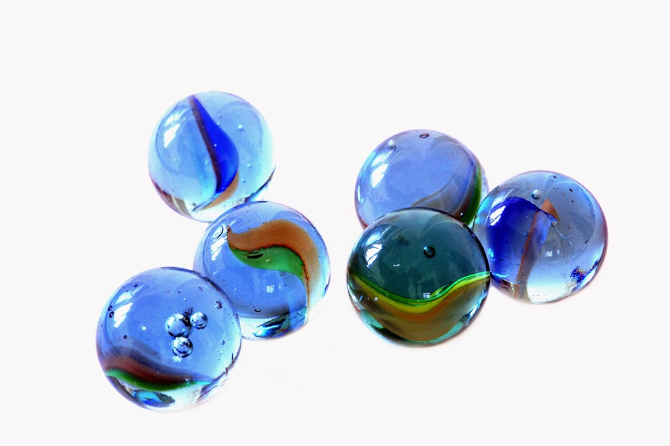 Blue, Glass, Marbles, Kids, Games, Play, Round - PNG Marbles