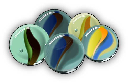 Marbles by tapash09 PlusPng.com  - PNG Marbles