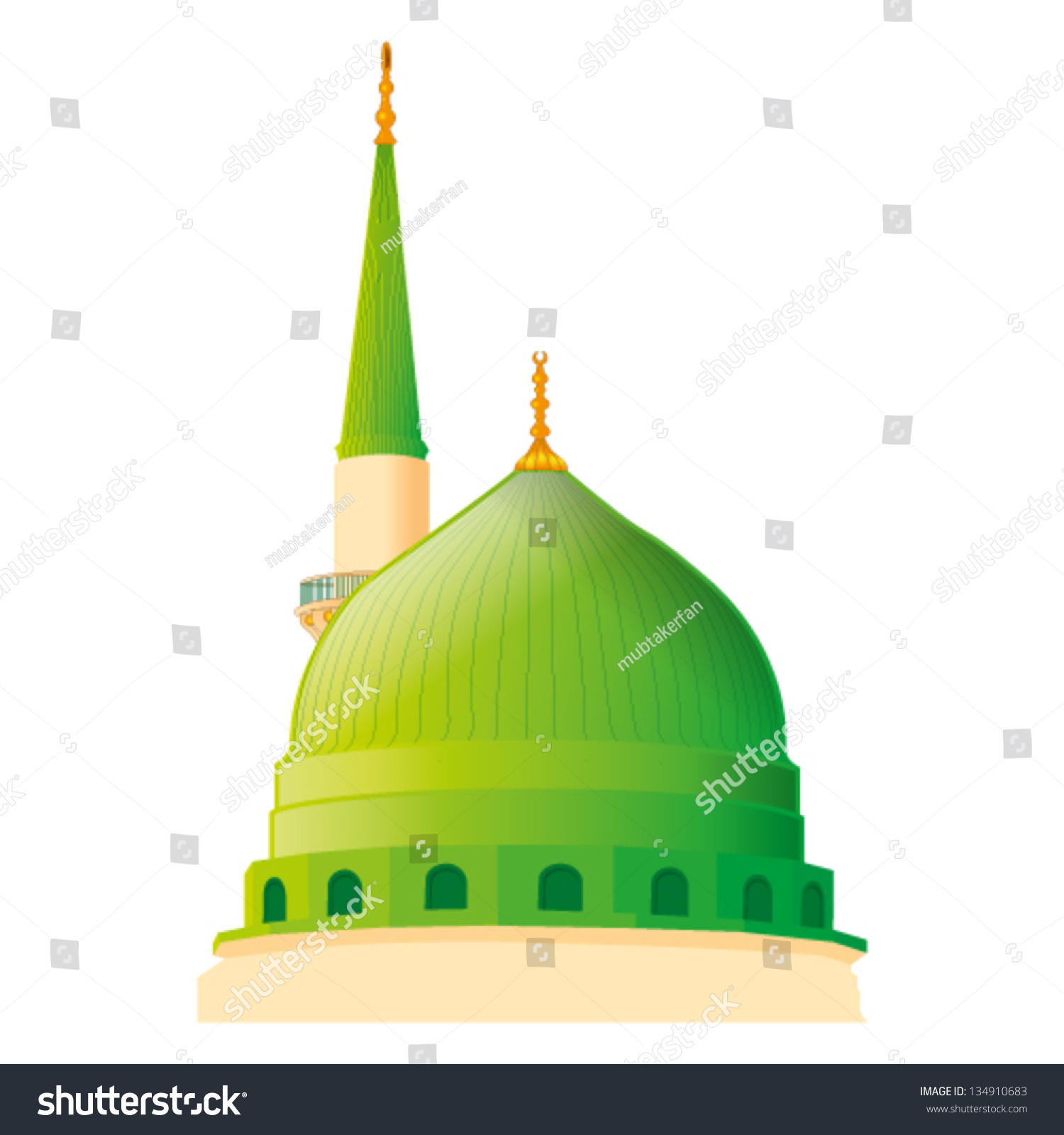 a vector draw of Masjid Nabaw