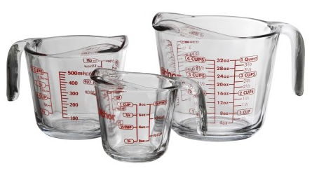 Anchor Hocking 3-piece measuring cup PlusPng.com  - PNG Measuring Cup