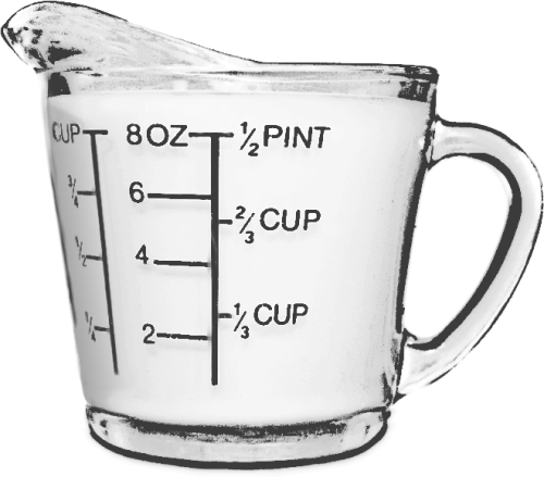 measuring cup BW - /household/kitchen/gadgets/measuring_cup_BW.png.html - PNG Measuring Cup