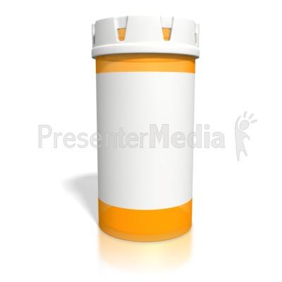 Blank Orange Pill Bottle PowerPoint Clip Art - PNG Medicine Bottle