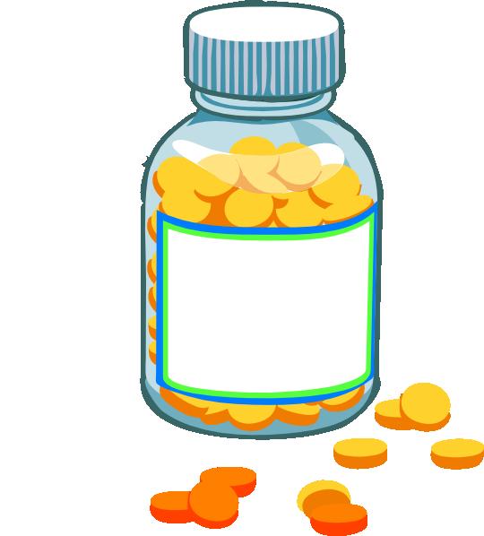 Blank Pill Bottle Clip Art at Clker pluspng.com - vector clip art online, royalty  free u0026 public domain - PNG Medicine Bottle