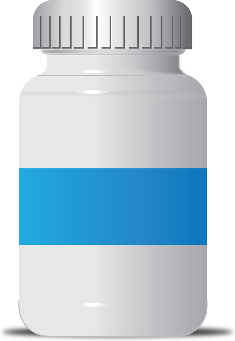 Free Vector Pill Bottle. Download Large Image 800x1159px - PNG Medicine Bottle