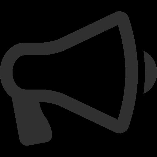 Free Icons Png:Megaphone Icon | Mono Business 2 Iconset | Custom Icon Design - PNG Megaphone Free