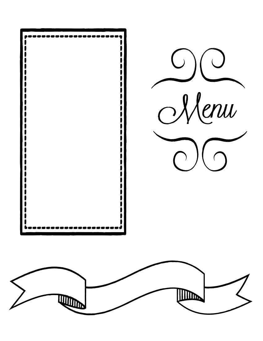 restaurant menu page - /page_frames/more_frames/food/restaurant_menu_page. png.html - PNG Menu Restaurant