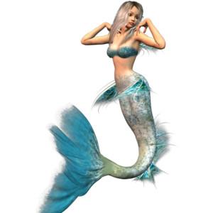 Lovely 3D Mermaids (10 png) - PNG Mermaid