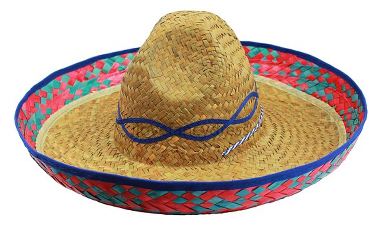 BLUE-SOMBRERO-HAT-MEXICAN-FANCY-DRESS-WILD-WESTERN- - PNG Mexican Hat