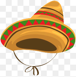 Cartoon Mexican Hat. PNG - PNG Mexican Hat