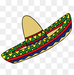 Cartoon Mexican Hat. PNG AI - PNG Mexican Hat