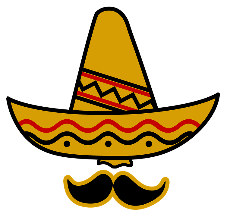 Sombrero, Hat, Mexico, Bart, Deep, Hidden, Nose - PNG Mexican Hat