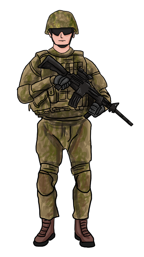 PNG Military Soldier - 73407