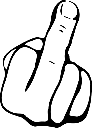 Shirtlabor - Motiv - mittelfinger-16326-16326. - PNG Mittelfinger