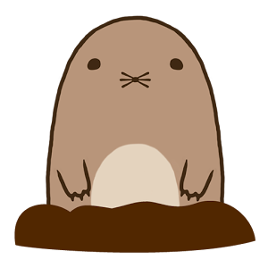 Pull up Mole - PNG Mole