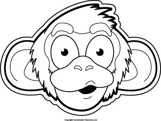 Monkey black and white free monkey clipart 2 - PNG Monkey Black And White