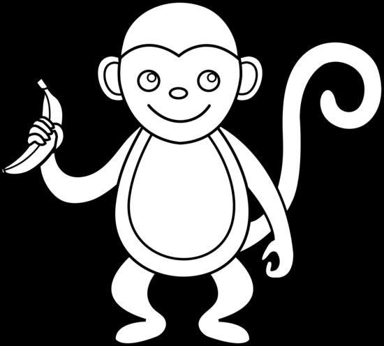 Monkey black and white monkey clip art black and white free clipart images 2 - PNG Monkey Black And White