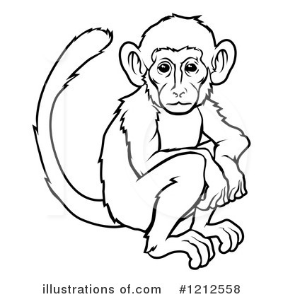 pin Monkey Clipart Black And White #13 - PNG Monkey Black And White