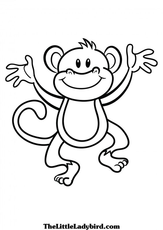 pin Year Of The Monkey clipart black and white #3 - PNG Monkey Black And White