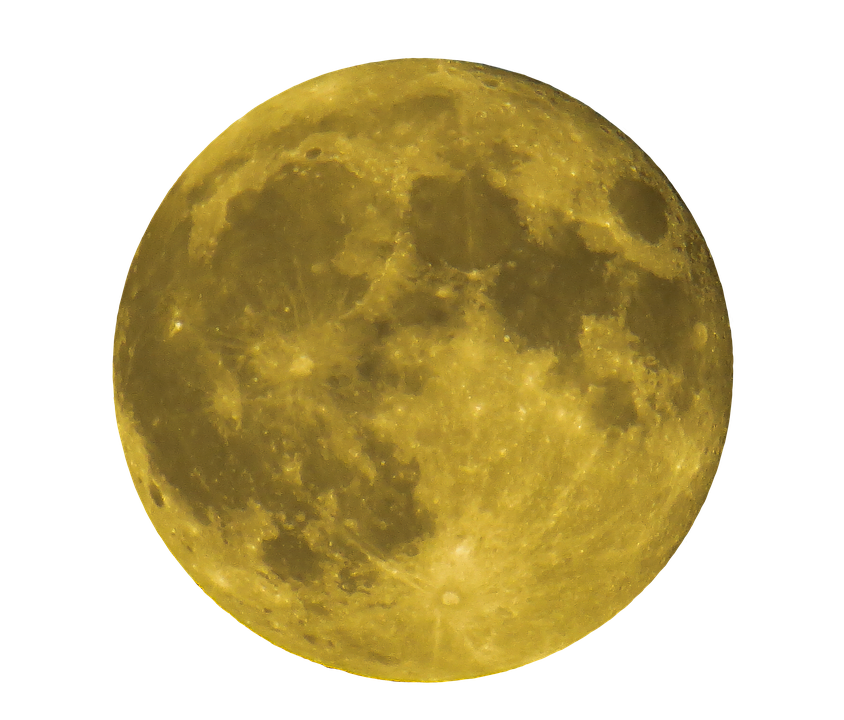 Moon, Full Moon, Yellow, Night, Dark, Close - PNG Moon