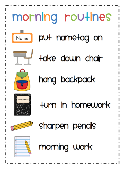 Morning Routine Clipart - PNG Morning Routine