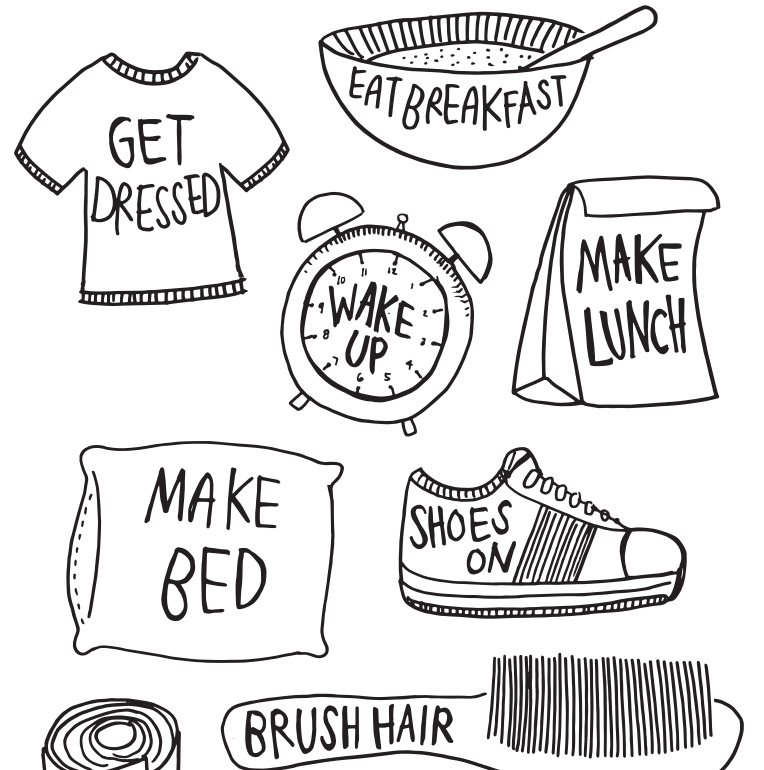 pin Breakfast clipart morning activity #14 - PNG Morning Routine