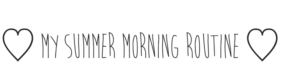The Summer Morning Routine - PNG Morning Routine