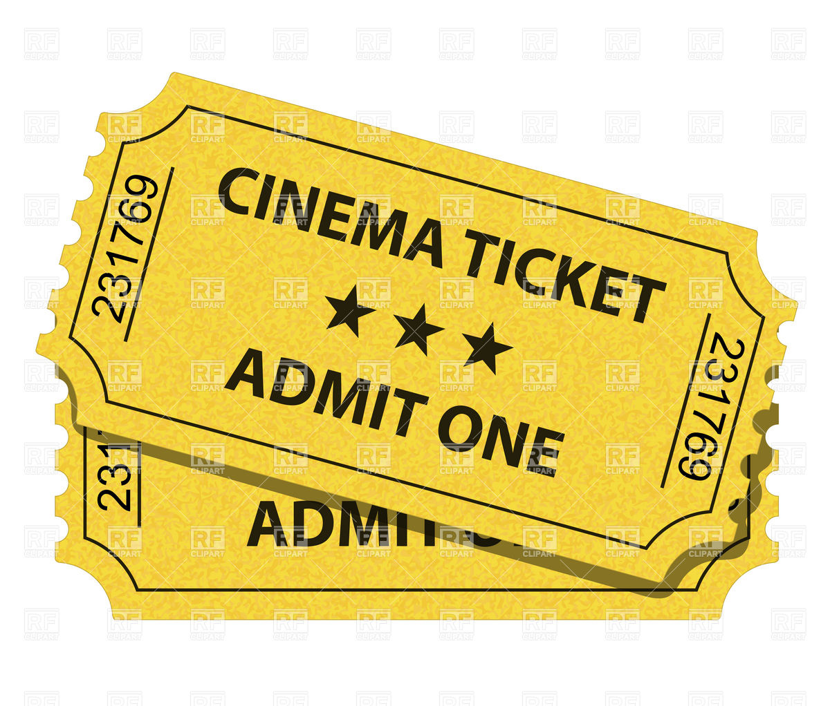 Cinema ticket Vector ClipArt - PNG Movie Ticket