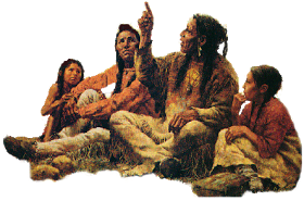 Native American Storyteller png by makiskan PlusPng.com  - PNG Native American