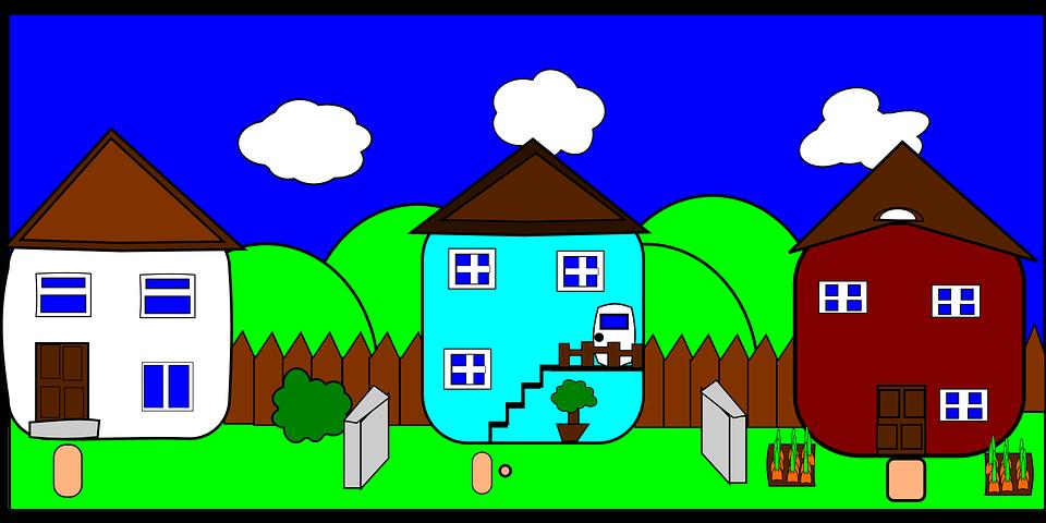Street Neighborhood Neighbors Houses Road Homes