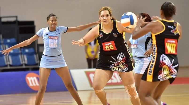 PNG Netball President, Julienne Leka Maliaki says she is extremely pleased  with the performance of the PNG Pepes at the 2015 Mission Foods Nations Cup  in PlusPng.com  - PNG Netball