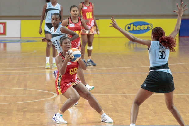 PNG Pepes against Botswana - PNG Netball
