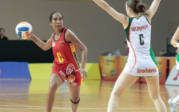 PNG Pepes vs Ireland at the Nations Cup Singapore in December. - PNG Netball