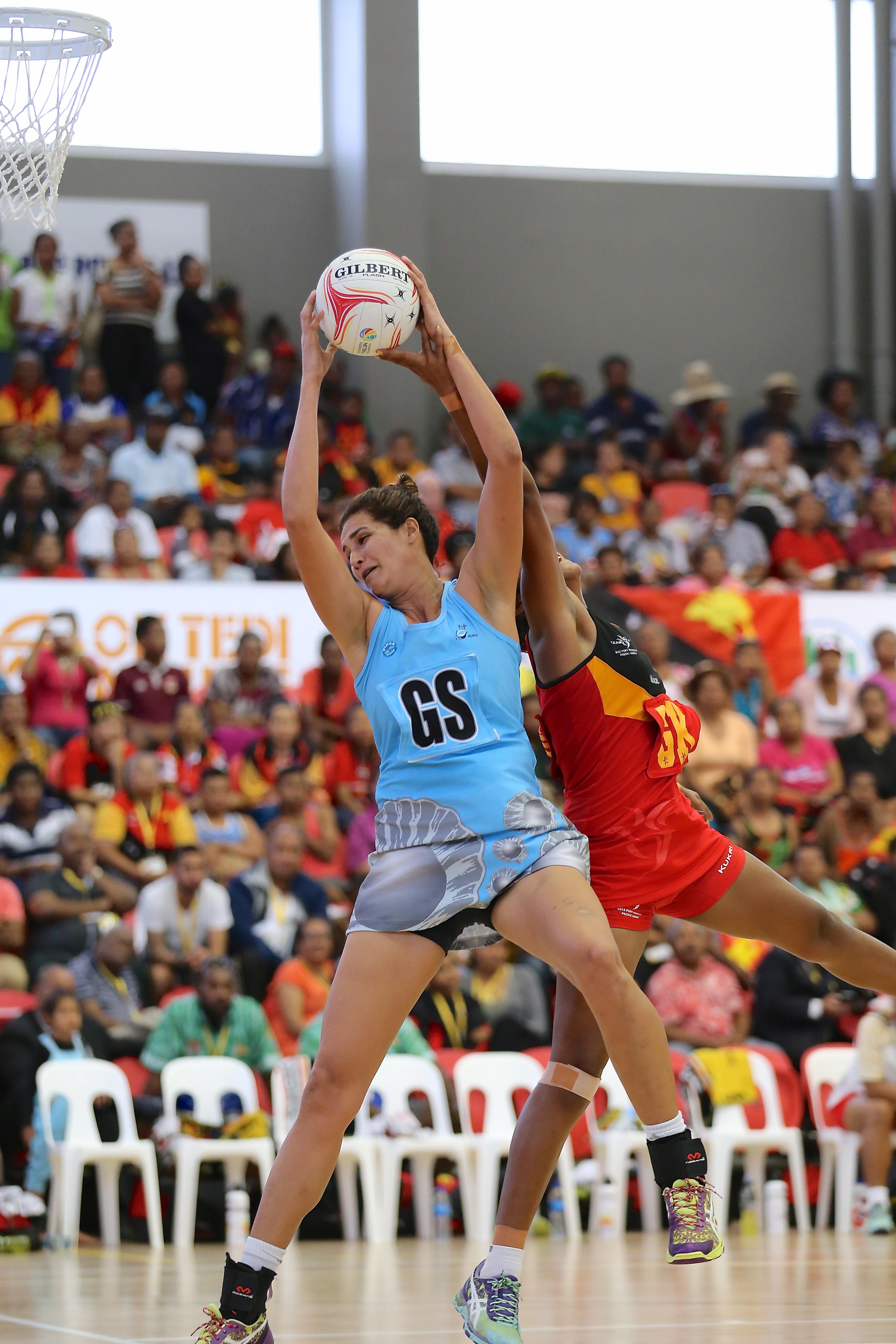 Taraima Mitchell led Fiji to a netball gold medal on Saturday. Photo by  Susie Pini - PNG Netball