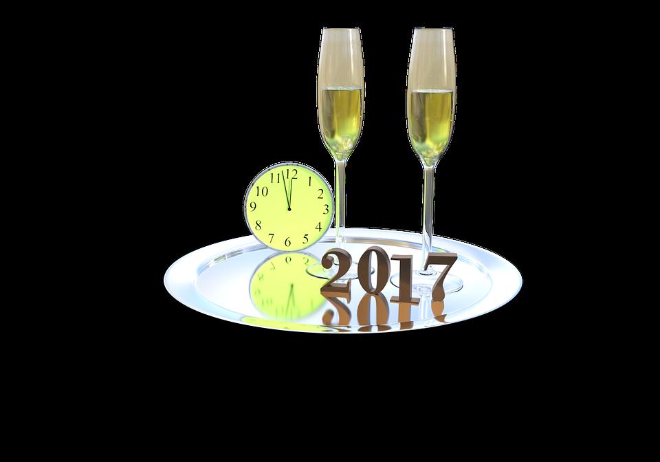 Jahreswechsel Silvester Neujahr 2017 Jahreswende - PNG Neujahr