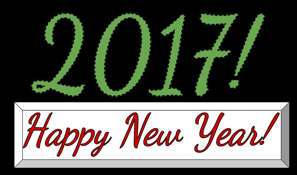 Neujahr Weihnachten Winter Jahr Feier 2017 - PNG Neujahr