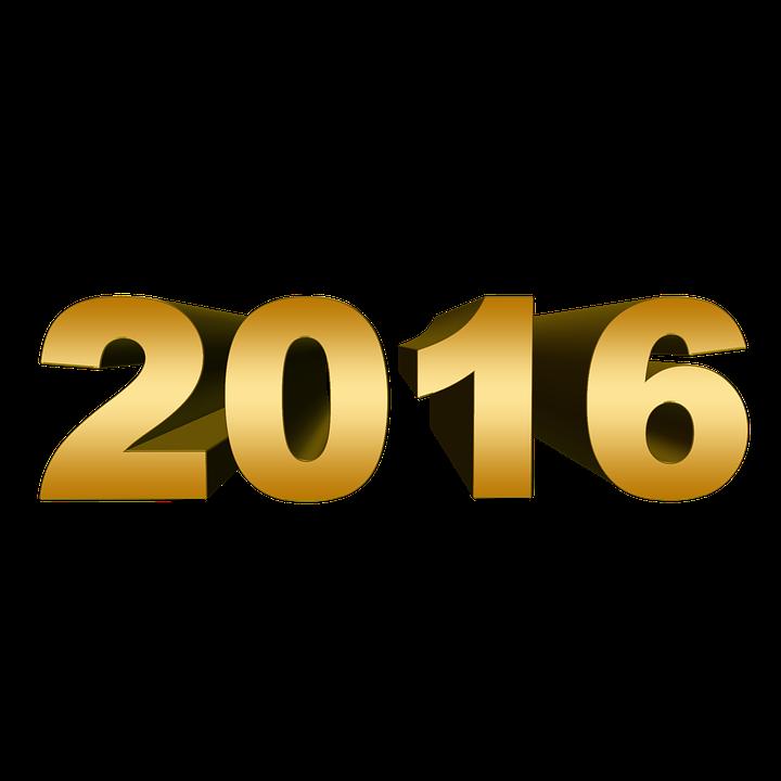 Sylvester, 2016, Feuerwerk, Neujahr, Mitternacht - PNG Neujahr