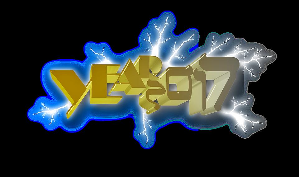 Willkommen, Glücklich, Neujahr, 2017 - PNG Neujahr