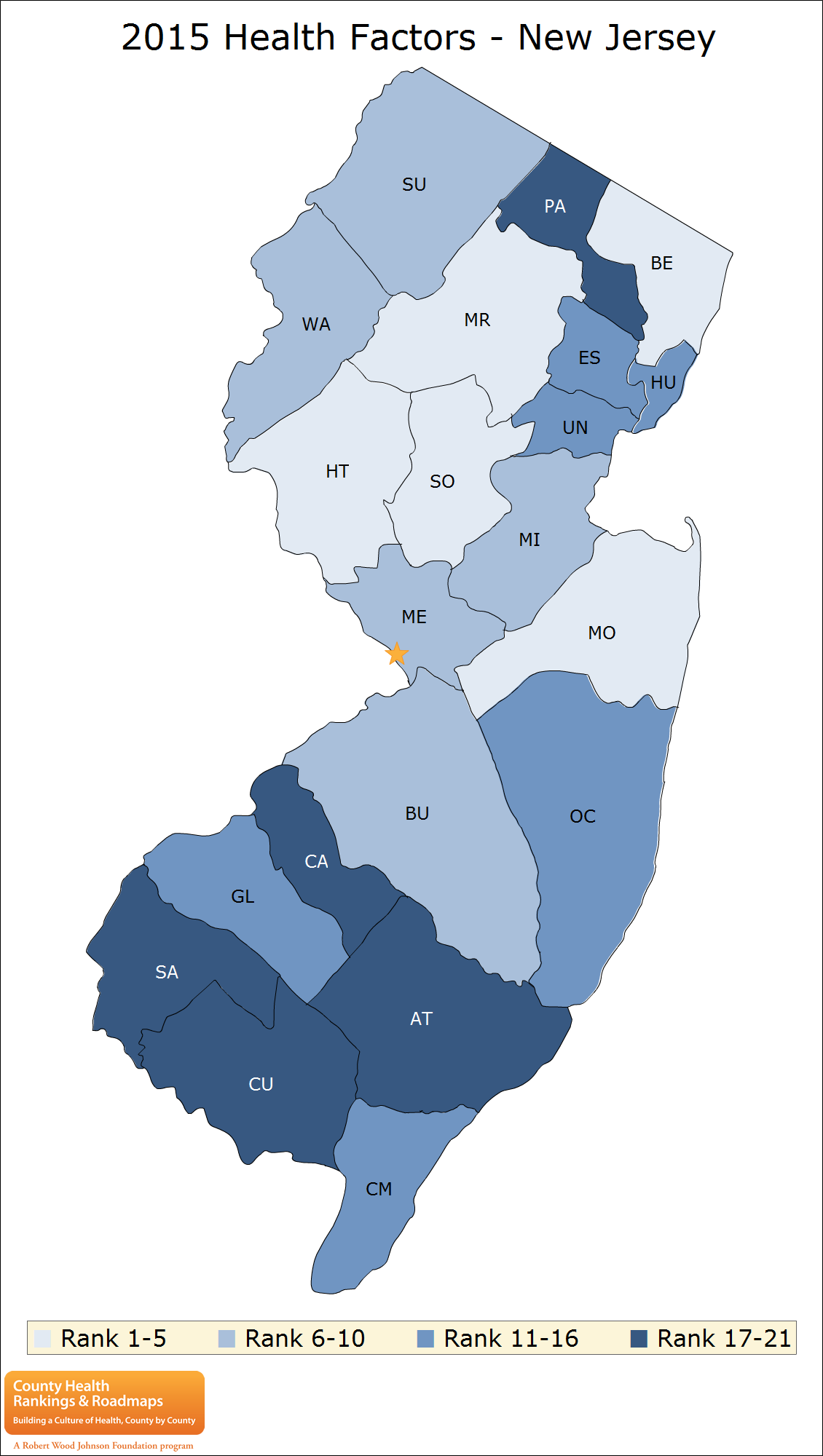 2015 New Jersey Health Factors Map, png PlusPng.com  - PNG New Jersey